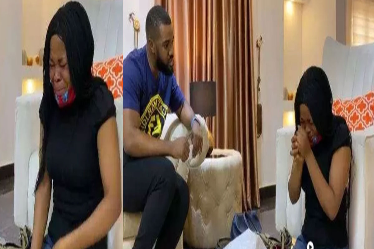Lady Breaks Down In Tears After Nollywood actor, Williams Uchemba Gifted Her 500K To Start Her Shoe Business (VIDEO)