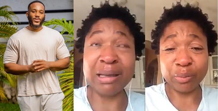 BBNaija 2020: Kiddwaya's mother breaks down in tears, begs for vote   PEAKVIBEZ
