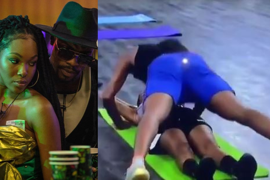BBNaija: Watch The Romantic Workout Session Between Neo And Vee (Video)