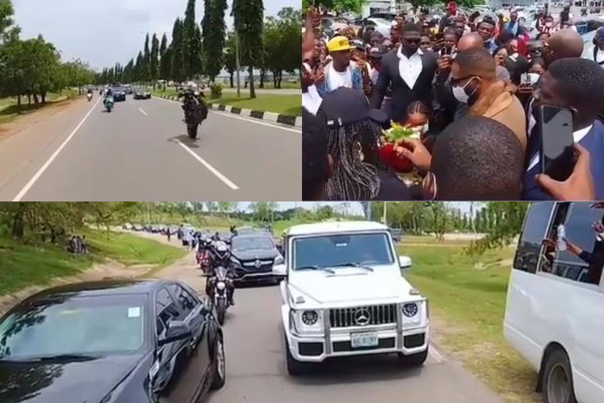 Watch Kiddwaya Special Convoy At The Nnamdi Azikiwe International Airport